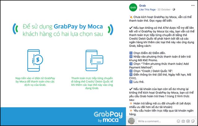 Khách kêu trời vì những bất tiện từ Grab: Visa và Master Card vô dụng, phải có ATM mới dùng được ví GrabPay by Moca - Ảnh 2.