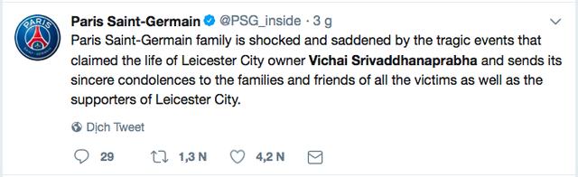 Truyền thông thế giới và nhiều đội bóng đau buồn khi chính thức nghe tin Chủ tịch Vichai qua đời - Ảnh 3.