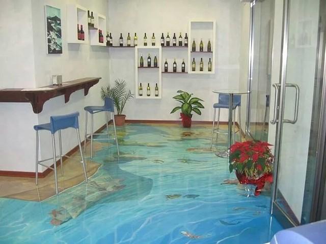 Những sàn nhà lát hình 3D khiến căn phòng như hòa mình vào môi trường xung quanh - Ảnh 14.