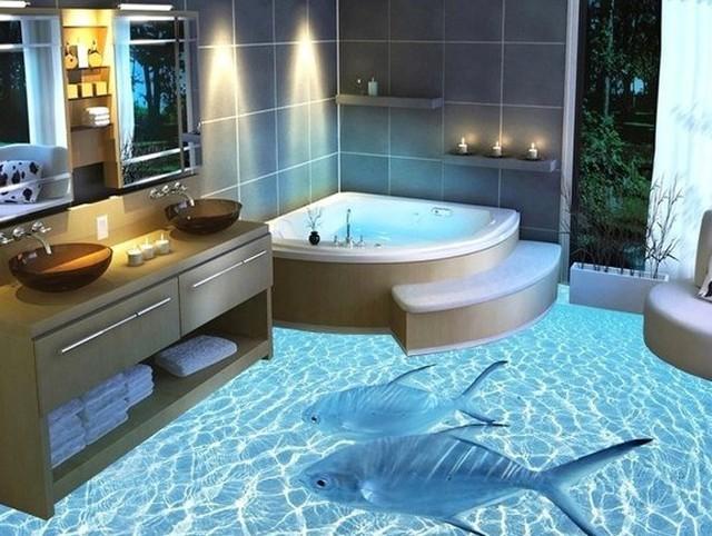 Những sàn nhà lát hình 3D khiến căn phòng như hòa mình vào môi trường xung quanh - Ảnh 4.