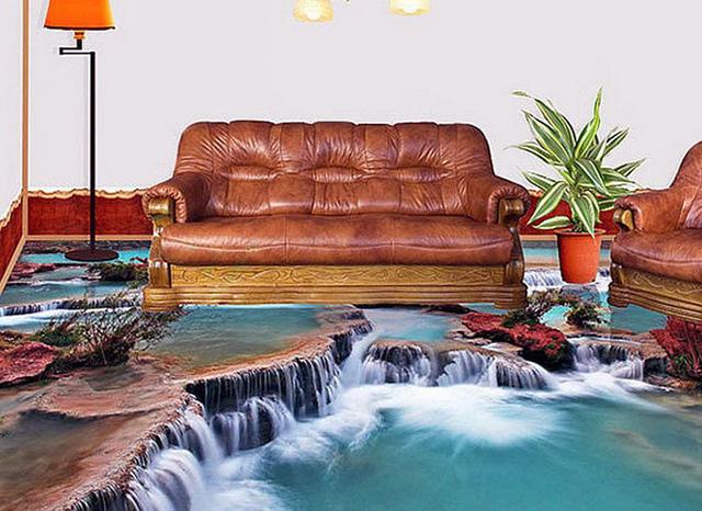 Những sàn nhà lát hình 3D khiến căn phòng như hòa mình vào môi trường xung quanh - Ảnh 6.