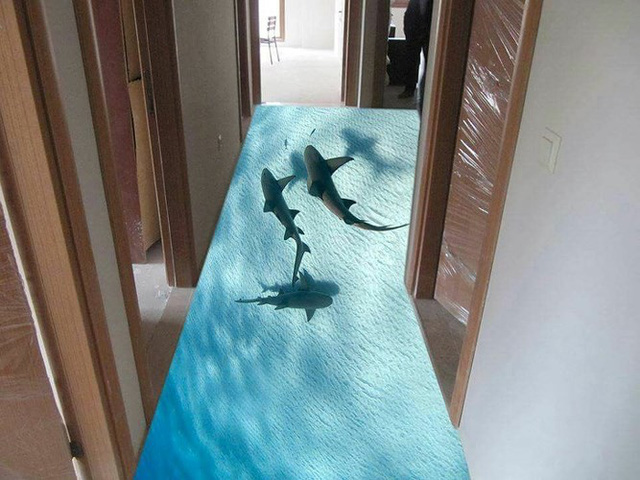 Những sàn nhà lát hình 3D khiến căn phòng như hòa mình vào môi trường xung quanh - Ảnh 7.