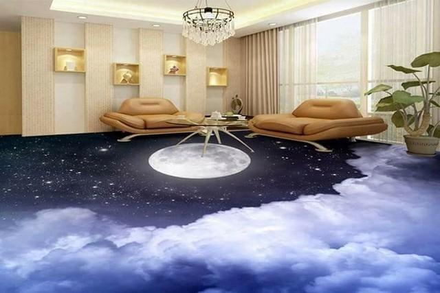 Những sàn nhà lát hình 3D khiến căn phòng như hòa mình vào môi trường xung quanh - Ảnh 10.