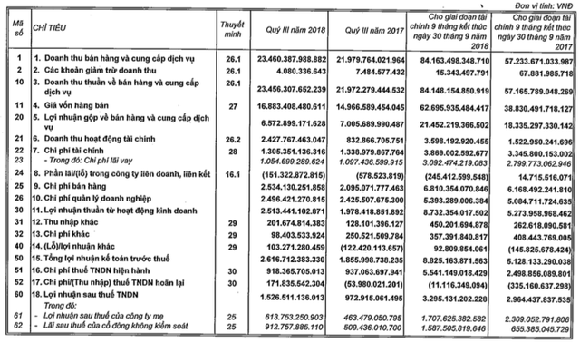 Vingroup: LNTT 9 tháng đạt 8.825 tỷ đồng, tăng trưởng 47% - Ảnh 1.
