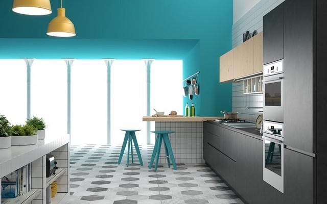 Ngắm phòng bếp được kiến trúc lung linh có màu xanh dương - Ảnh 5.