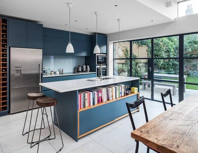 Ngắm phòng bếp được kiến trúc lung linh có màu xanh dương - Ảnh 7.