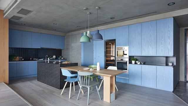 Ngắm phòng bếp được kiến trúc lung linh có màu xanh dương - Ảnh 8.