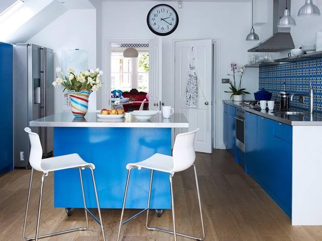 Ngắm phòng bếp được kiến trúc lung linh có màu xanh dương - Ảnh 10.