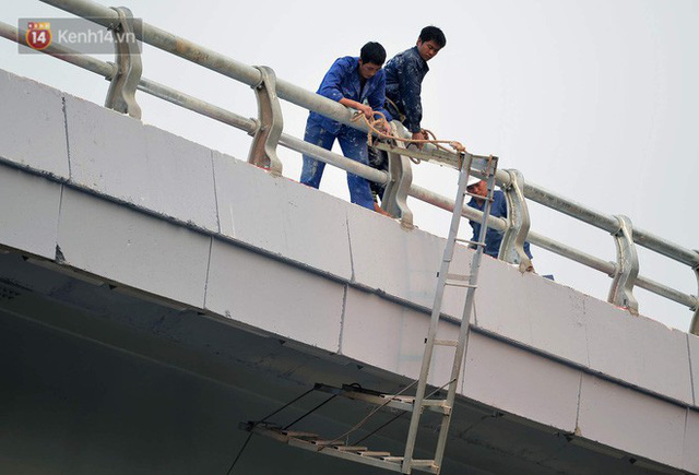 Clip, ảnh: Cận cảnh cầu vượt hơn 300 tỷ ở nút giao An Dương - Nghi Tàm trước ngày thông xe - Ảnh 11.