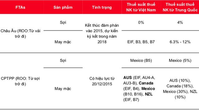 Dệt may Việt Nam sẽ tăng gấp đôi thị phần ở 1 vài phân khúc CPTPP sau năm 2019 - Ảnh 3.