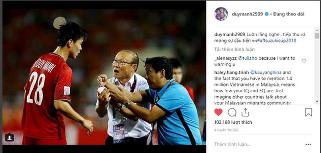 Bị CĐV Malaysia tấn công dữ dội trên Instagram nhưng cách Duy Mạnh phản ứng mới đáng chú ý - Ảnh 2.