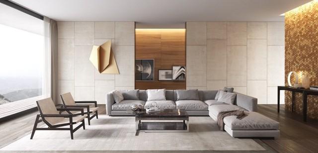 Phòng khách đẹp hiện đại, hấp dẫn người nhìn - Ảnh 1.