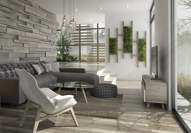 Phòng khách đẹp hiện đại, hấp dẫn người nhìn - Ảnh 2.