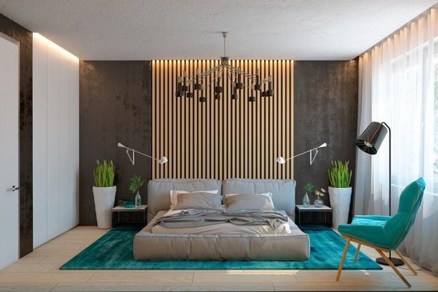Ngôi nhà tuyệt đẹp nhờ chọn tường làm từ nan gỗ - Ảnh 8.