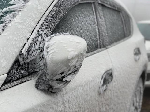 Băng tuyết phủ trắng nhà cửa, xe cộ ở đỉnh Mẫu Sơn - Ảnh 12.