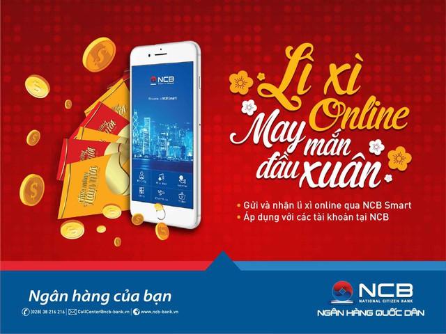 Ngân hàng NCB bổ sung tính năng Lì xì online trên NCB Smart - Ảnh 1.