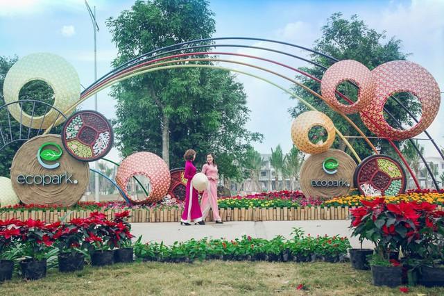 Toàn cảnh đường hoa xuân Mậu Tuất 2018 rực rỡ tại khu đô thị Ecopark và Phú Mỹ Hưng - Ảnh 13.