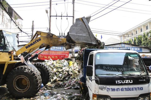 Hoa Tết dội chợ, chất như núi ở chợ hoa sỉ Đầm Sen, TP HCM - Ảnh 8.