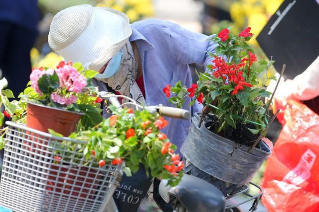 Bế mạc hội hoa xuân Tao Đàn, người dân mót lại hoa sắp cho vào xe rác - Ảnh 12.