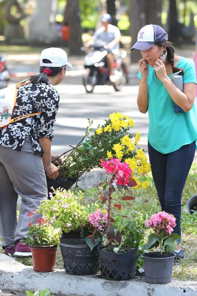 Bế mạc hội hoa xuân Tao Đàn, người dân mót lại hoa sắp cho vào xe rác - Ảnh 5.
