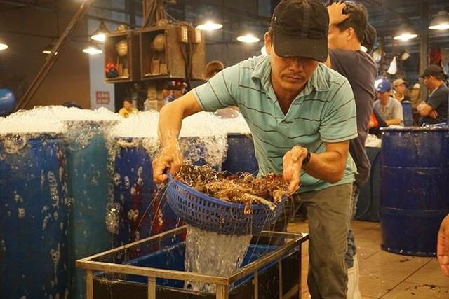 Nhộn nhịp chợ cá lóc trước ngày vía Thần tài   - Ảnh 4.