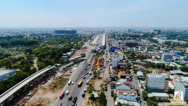 Toàn cảnh 20km tuyến một vài con phố sắt metro số 1 Bến Thành - Suối Tiên đang dần thành hình - Ảnh 12.
