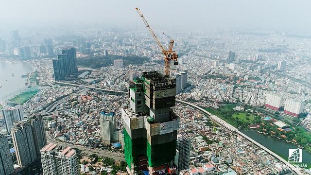 Cận cảnh tòa tháp cao nhất Việt Nam Landmark 81 chuẩn bị cất nóc - Ảnh 8.