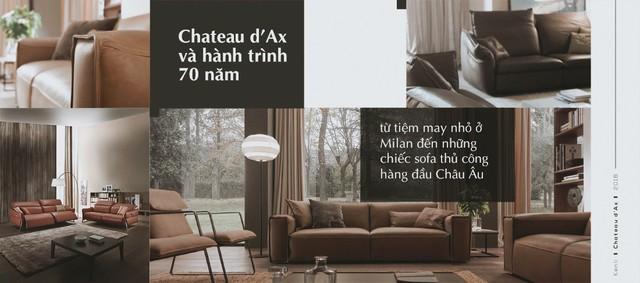 Chateau d'Ax và hành trình 70 năm từ tiệm may nhỏ ở Milan đến những chiếc sofa thủ công hàng đầu Châu Âu - Ảnh 1.
