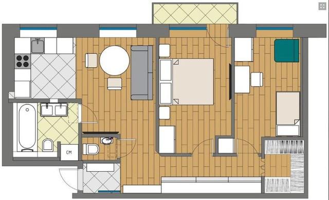 Căn hộ 54m2 hai phòng ngủ rộng và đẹp đến khó tin - Ảnh 20.