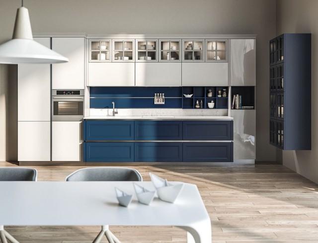Những mẫu kiến trúc nhà bếp đẹp mê li cho cô nàng thích màu xanh - Ảnh 13.