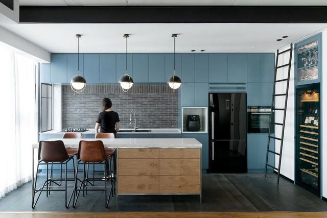 Những mẫu kiến trúc nhà bếp đẹp mê li cho cô nàng thích màu xanh - Ảnh 5.