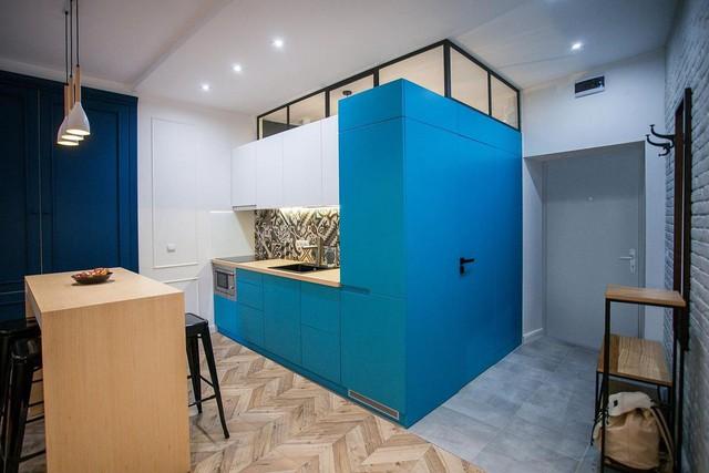 Những mẫu kiến trúc nhà bếp đẹp mê li cho cô nàng thích màu xanh - Ảnh 6.