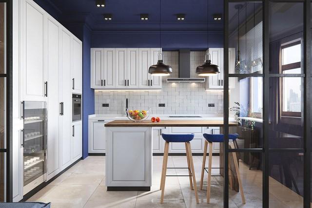 Những mẫu kiến trúc nhà bếp đẹp mê li cho cô nàng thích màu xanh - Ảnh 7.
