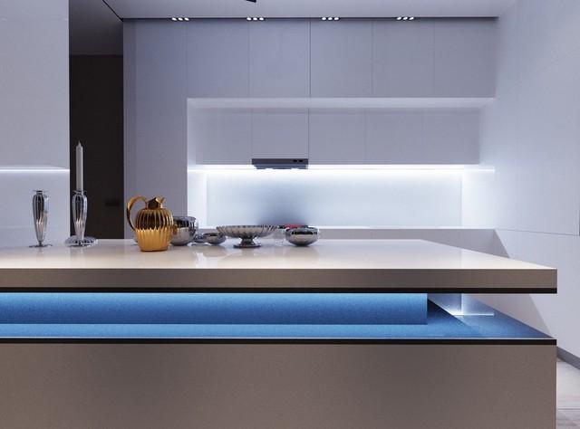 Những mẫu kiến trúc nhà bếp đẹp mê li cho cô nàng thích màu xanh - Ảnh 10.