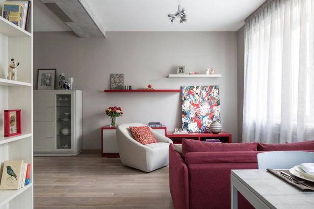 Mê mẩn có căn hộ chung cư 65m2 kiến trúc ấn tượng - Ảnh 4.