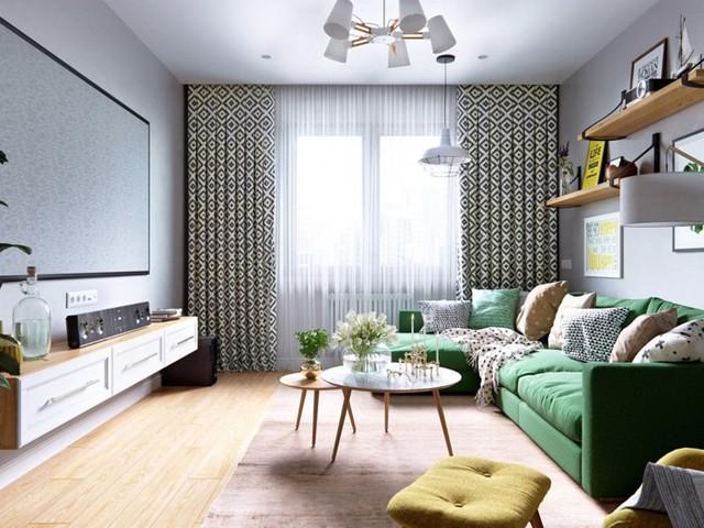 Tạo điểm nhấn siêu xinh với nội thất xanh lá cây - Ảnh 1.