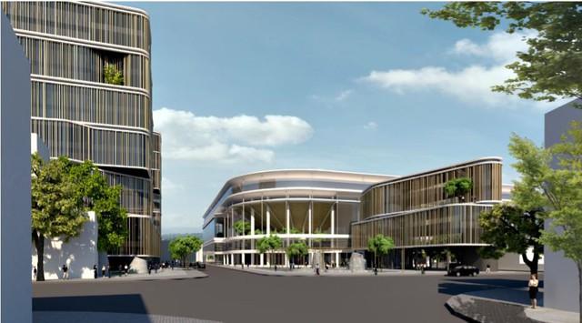 Bầu Hiển xây sân vận động Hàng Đẫy mới 250 triệu Euro trông như sân bóng Ngoại hạng Anh - Ảnh 4.