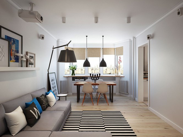 Thiết kế căn hộ chung cư sáng tạo theo phong một vàih Scandinavian - Ảnh 2.