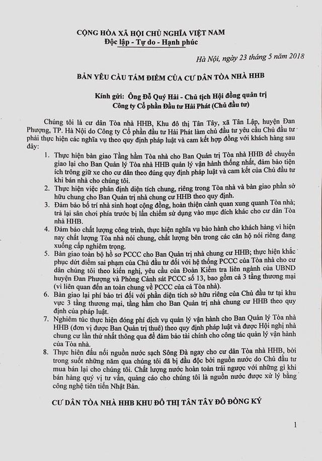 Lập đoàn kiểm tra vi phạm chung cư HHB Tân Tây Đô của Hải Phát - Ảnh 2.