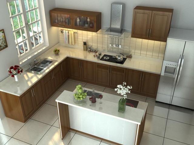 Cách thiết kế nội thất phòng bếp thêm rộng - Ảnh 1.