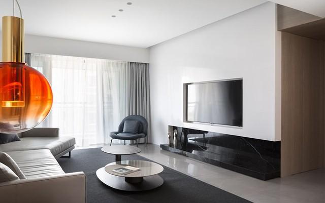 Căn hộ màu trắng kiến trúc dễ làm và tinh tế - Ảnh 2.