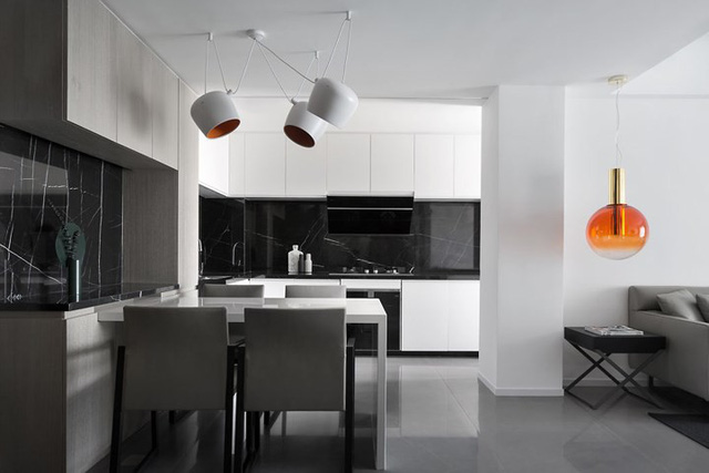 Căn hộ màu trắng kiến trúc dễ làm và tinh tế - Ảnh 5.