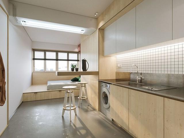 Căn hộ 23 m2 thiết kế theo phong cách tối giản - Ảnh 3.