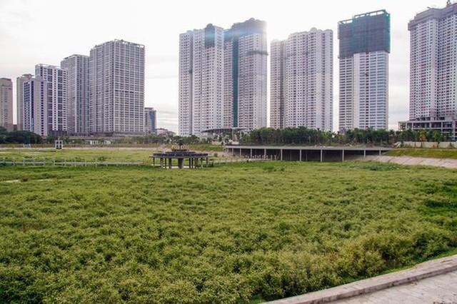 Ngổn ngang công viên hồ điều hòa 300 tỷ của quận cao ốc Thủ đô  - Ảnh 2.