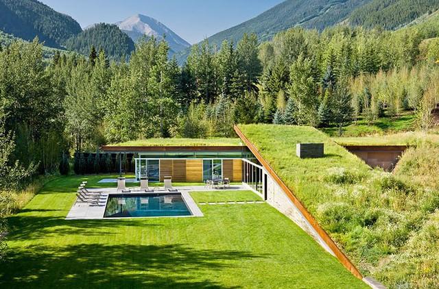 """Ngôi nhà trong núi vô cùng đặc biệt có phần mái """"lợp cỏ"""" - Ảnh 10."""