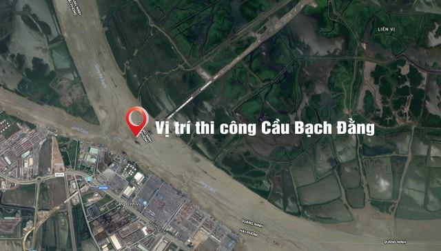 Quảng Ninh thúc tiến độ thi công Dự án cầu Bạch Đằng, đường dẫn và nút giao cuối tuyến - Ảnh 1.