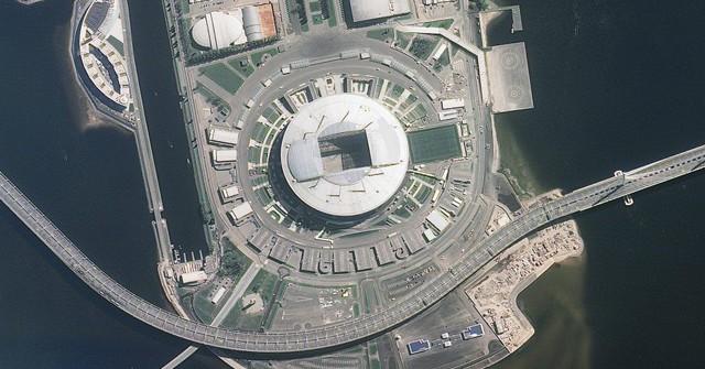 12 sân vận động phục vụ World Cup 2018 nhìn từ vệ tinh - Ảnh 1.