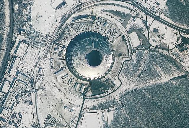 12 sân vận động phục vụ World Cup 2018 nhìn từ vệ tinh - Ảnh 4.