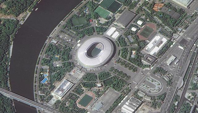 12 sân vận động phục vụ World Cup 2018 nhìn từ vệ tinh - Ảnh 6.