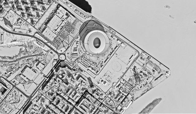 12 sân vận động phục vụ World Cup 2018 nhìn từ vệ tinh - Ảnh 9.